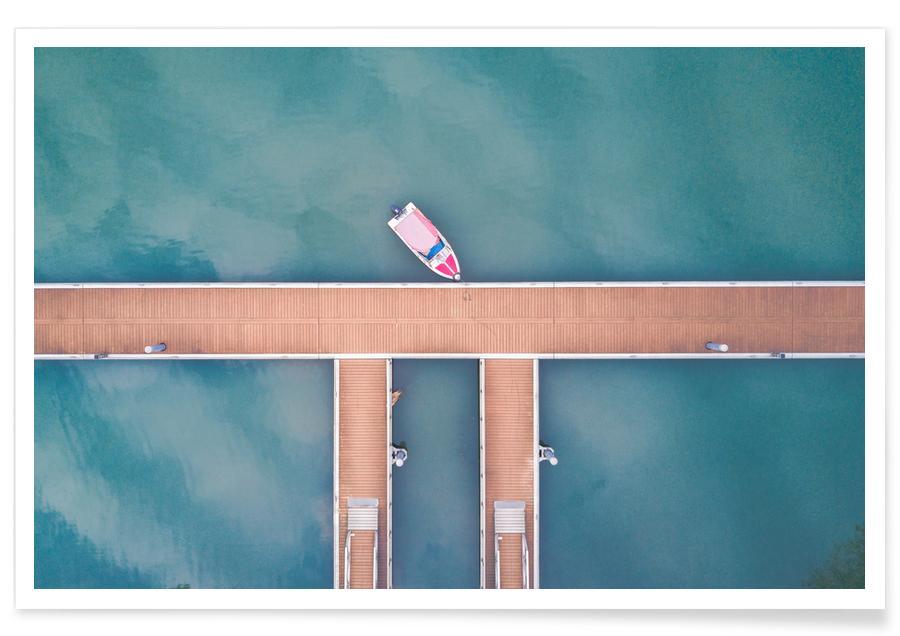 Både, Hav, sø & havlandskab, Miniature by @saium Plakat