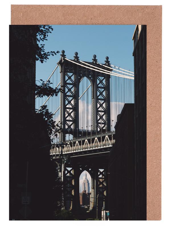 Brücken, New York, Bridge in Shadow -Grußkarten-Set