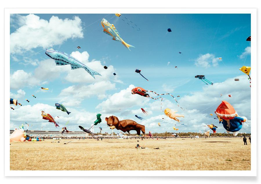 Berlijn, Vliegparade van dieren poster