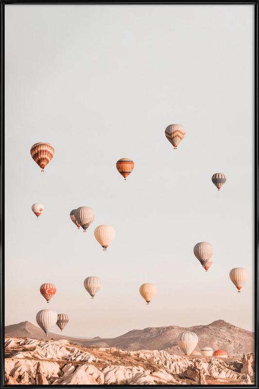 Hot Air Balloons -Bild mit Kunststoffrahmen