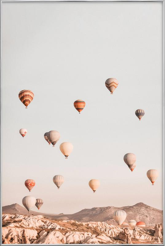 Hot Air Balloons poster in aluminium lijst