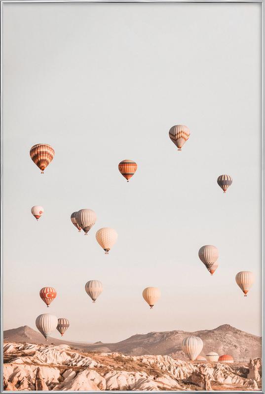 Hot Air Balloons Poster in Aluminium Frame