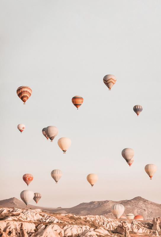 Hot Air Balloons -Alubild