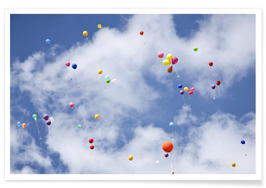 Lucht en wolken, Dromerig, Balloons poster