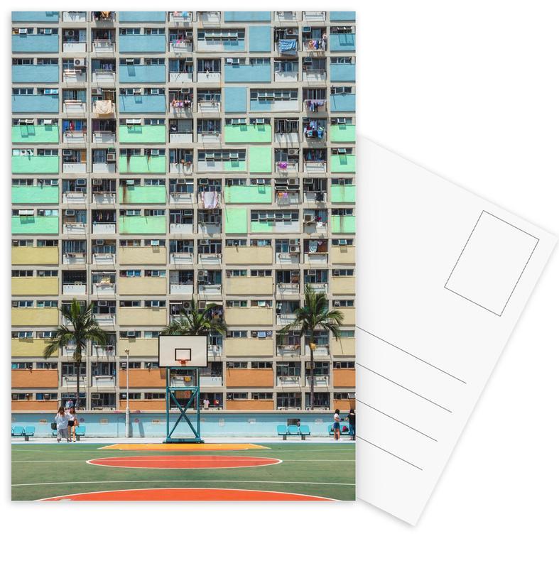 Architectonische details, Basketbal, On the Court ansichtkaartenset