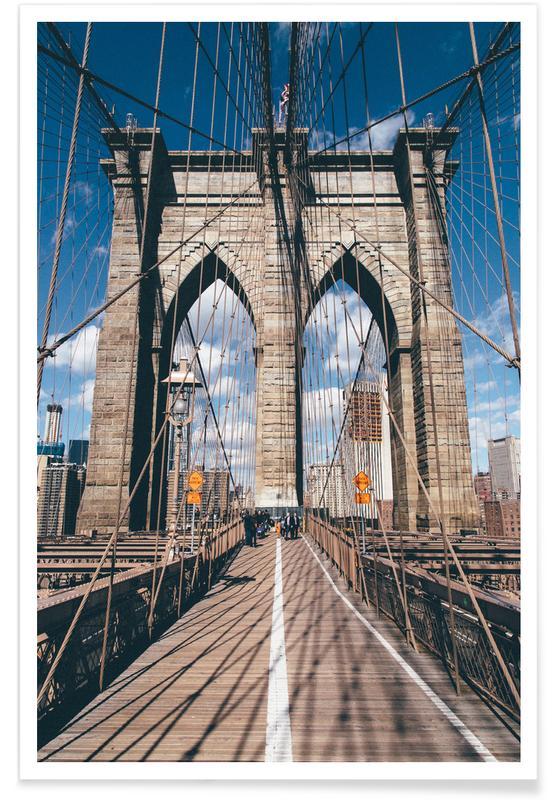 Bruggen, New York, Crossing the Bridge poster