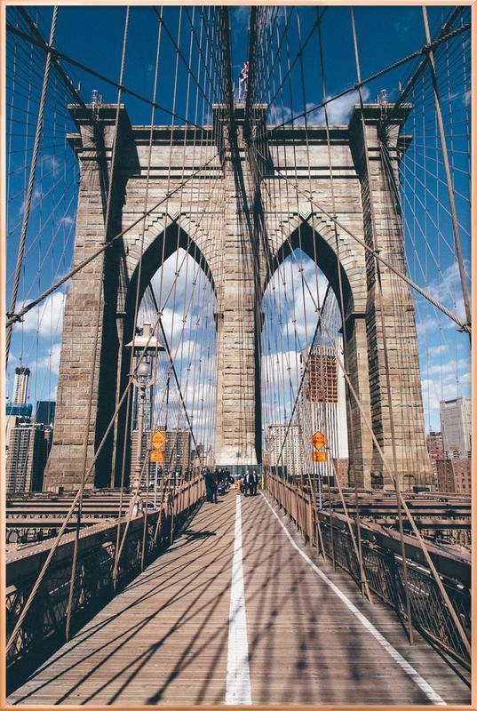 Crossing the Bridge Poster i aluminiumram
