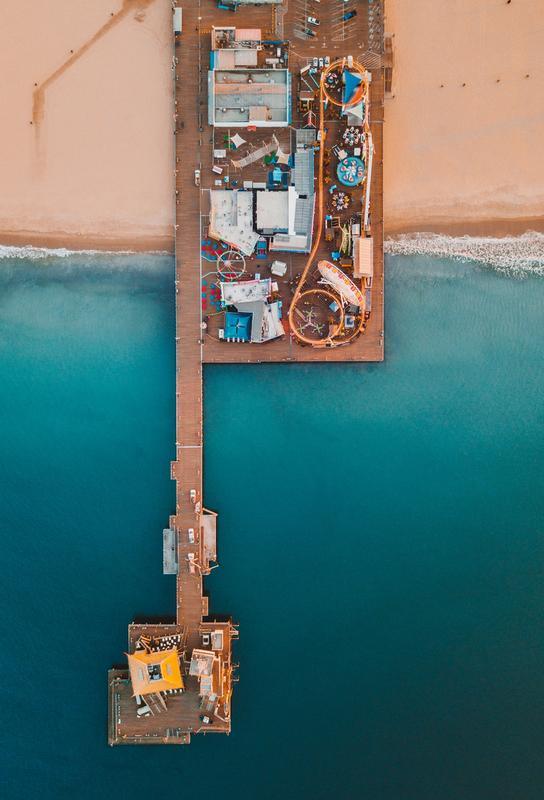 Paradise Pier by @connorjvaughan Aluminiumtavla
