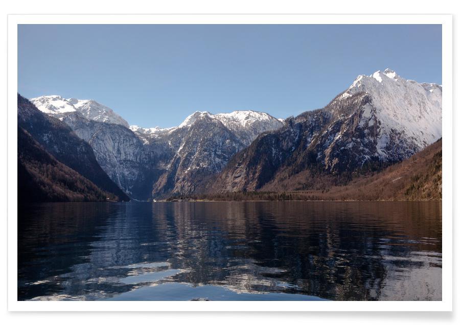 Bergen, Hav, sjö & kustlandskap, Fresh Waters, Clear Skies @BirgitKorber Poster