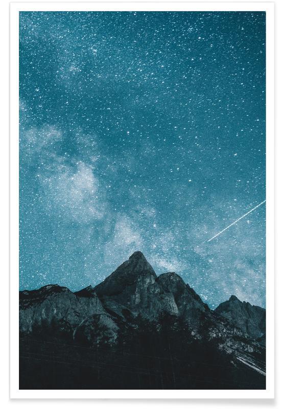 Mountains, Dream Of Falling Stars @MichaelSchauer Poster