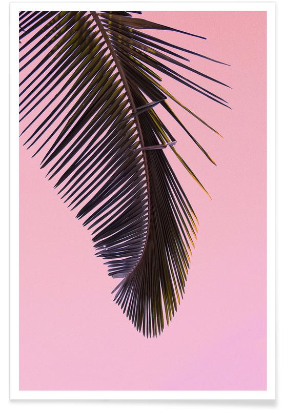 Blade & planter, Palmer, Tropicana Pink by @BineArnold Plakat