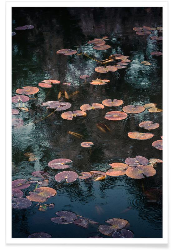 Océans, mers & lacs, Raindrops on Lilies @Syuji_Tanaka affiche