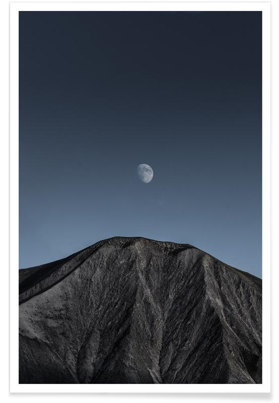 Mountains, Dark Side of the Moon @Vasarely Poster