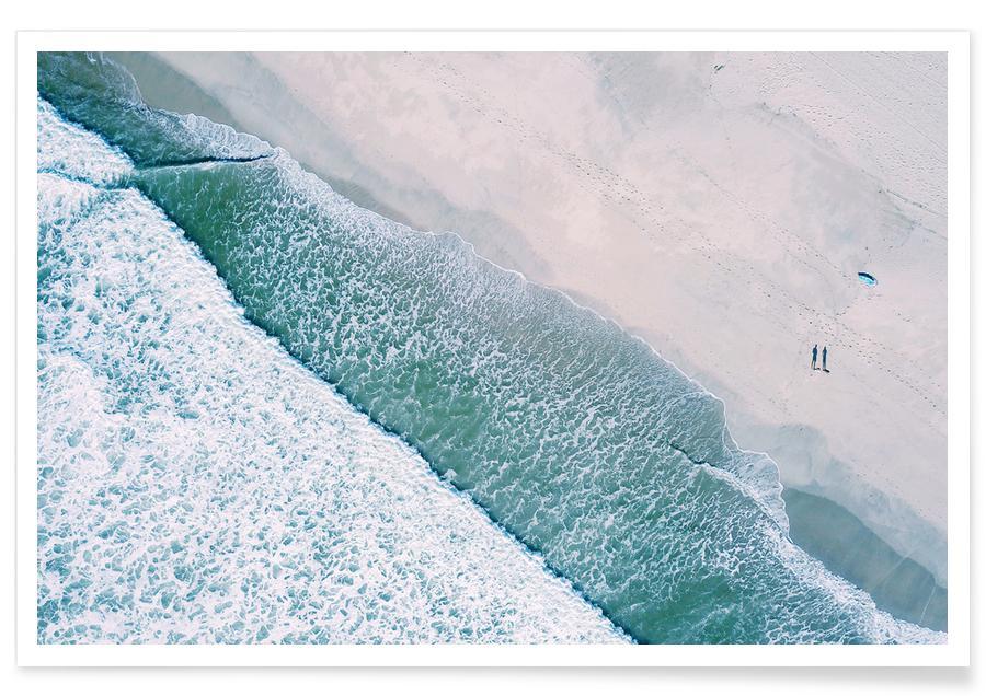 Strande, Surfing, Dudes Surfing by @bavariansnaps Plakat