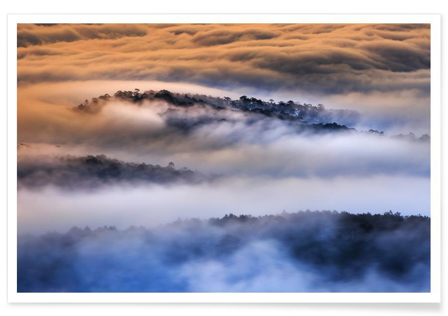 Paysages abstraits, Ciels & nuages, Dreamland @Quangpraha affiche