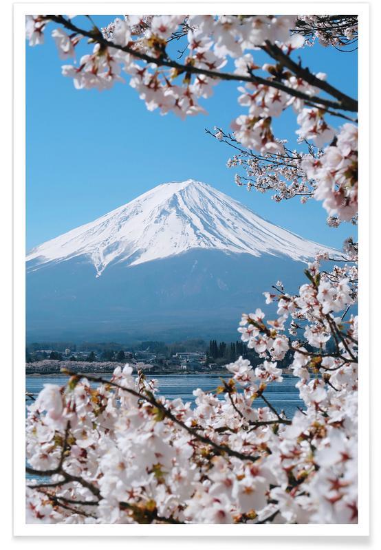 Bergen, Mount Fuji @almalo poster