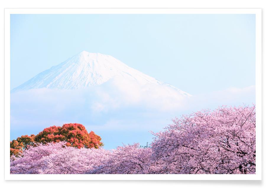 Berge, Sakura @ShutterDin -Poster