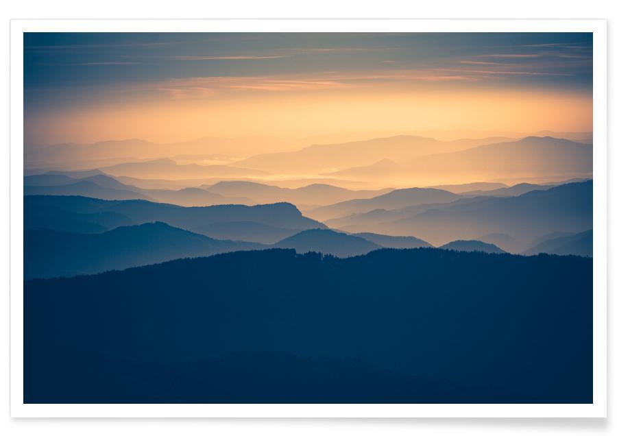 Montagnes, Dusk Falls @Tihuana affiche