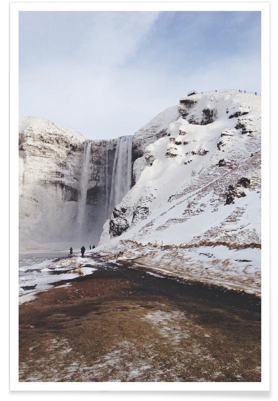 Sehenswürdigkeiten & Wahrzeichen, Icy Falls by @xfaerie -Poster