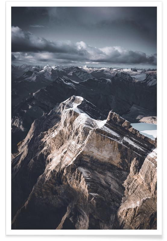 Montagnes, Stormy Mountains by @bokehm0n affiche