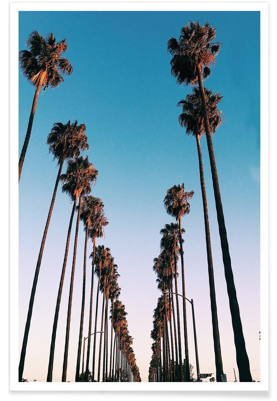 Los Angeles, Palmer, Rejser, Wanna Be in LA by @samfn Plakat