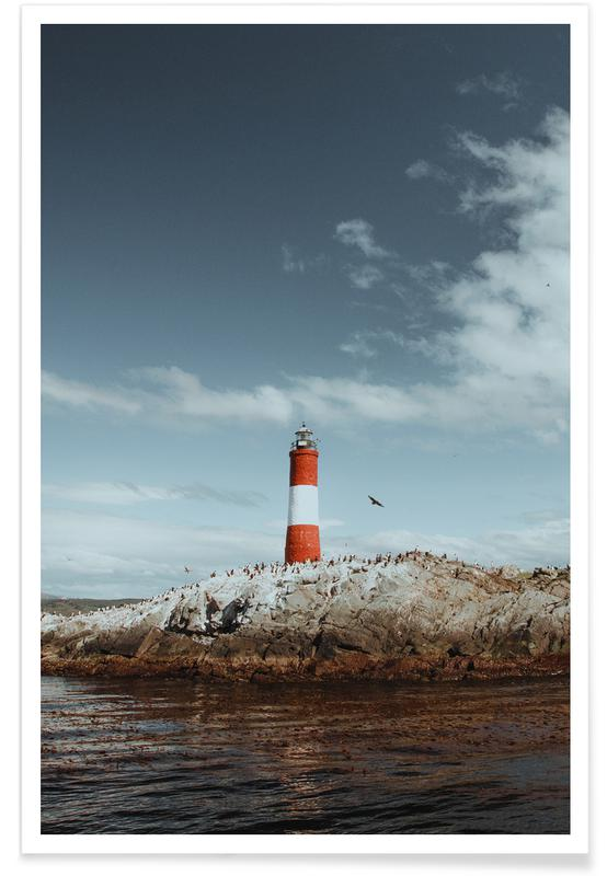 Ocean, Lake & Seascape, To The Lighthouse by @KevinZaouali Poster