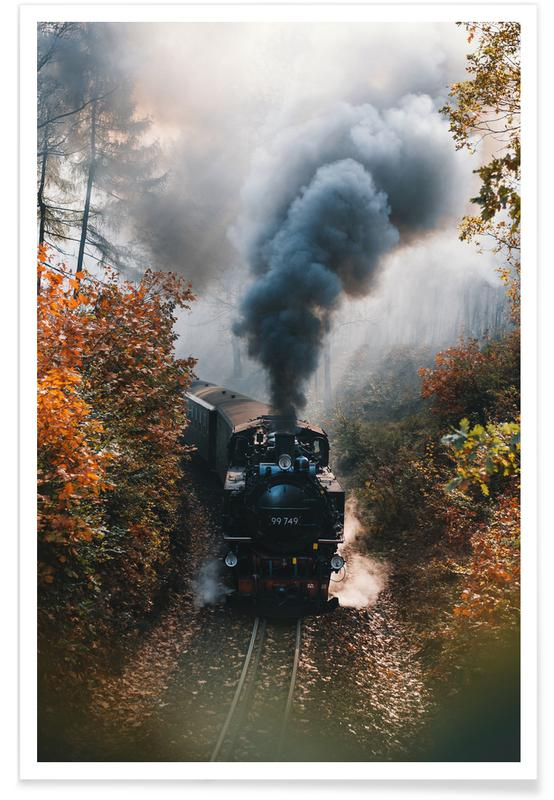 Trains, Heading Someplace New by @bokehm0n Poster