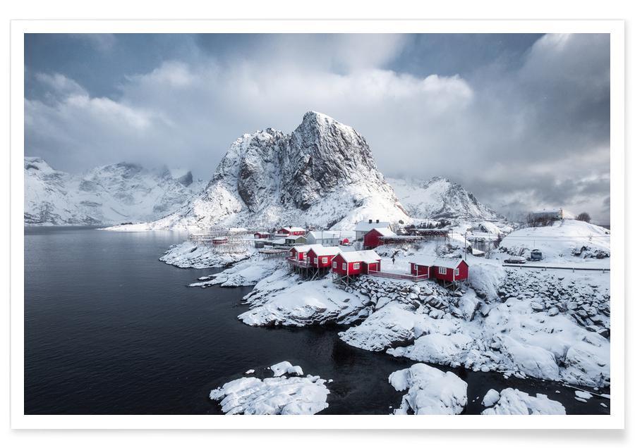 Montagnes, Monuments et vues, Snowy Suburbia by @Mumemories affiche