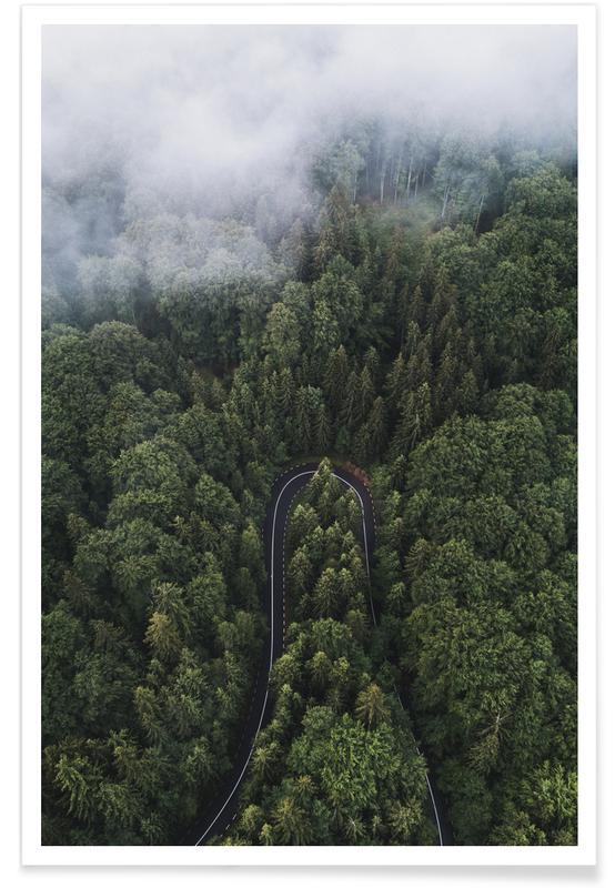 Forests, A Turn In The Road by @szabo_ervin_edward Poster