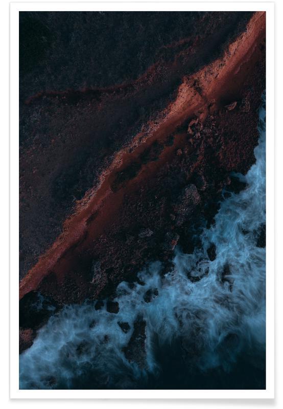 Ocean, Lake & Seascape, Water On Mars by @rokromih Poster