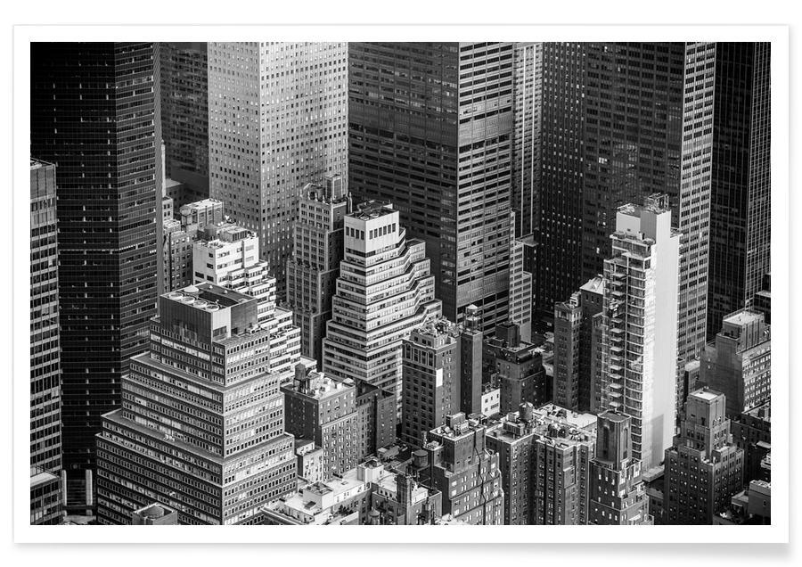 New York, Zwart en wit, Architectonische details, Manhattan @FotoAlena poster