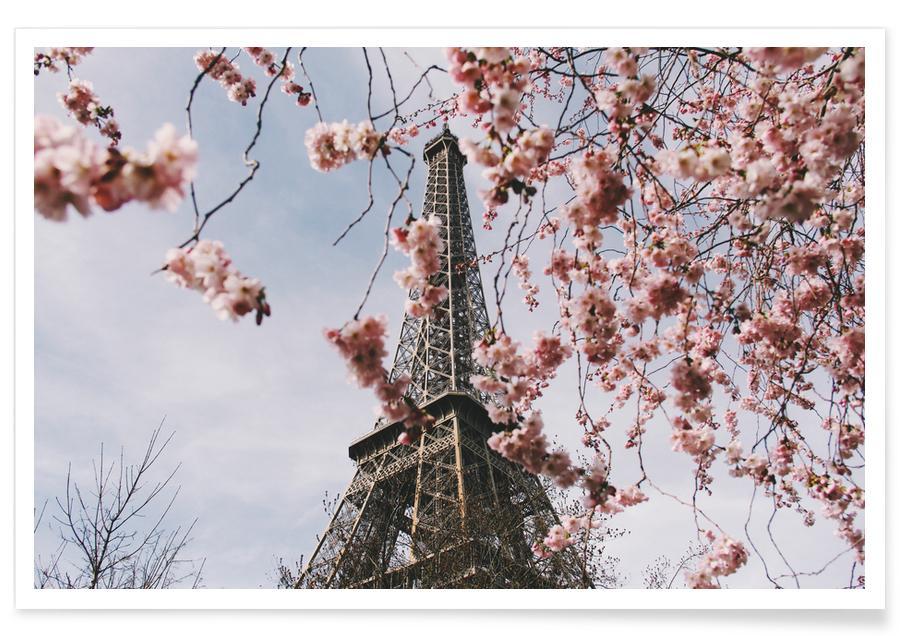 Monuments et vues, Détails architecturaux, Paris In Spring @Kruti_Doctor affiche