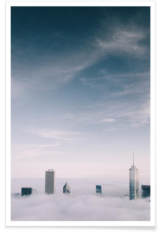 Skylines, Skyscrapers & High-Rises, Skyrise @cocu_liu Poster