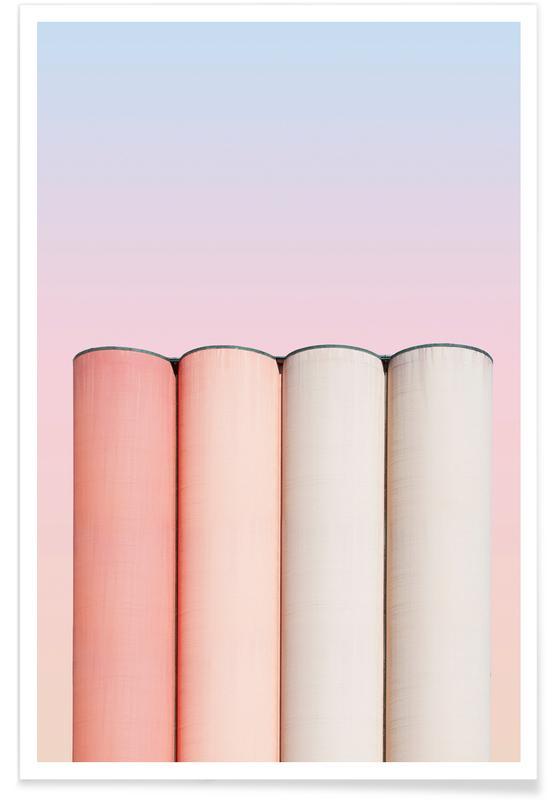 Architekturdetails, Crayon Chimneys @heysupersimi -Poster