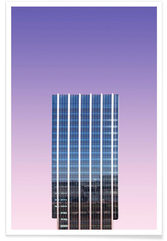 Architekturdetails, Indigo Skyline @heysupersimi -Poster
