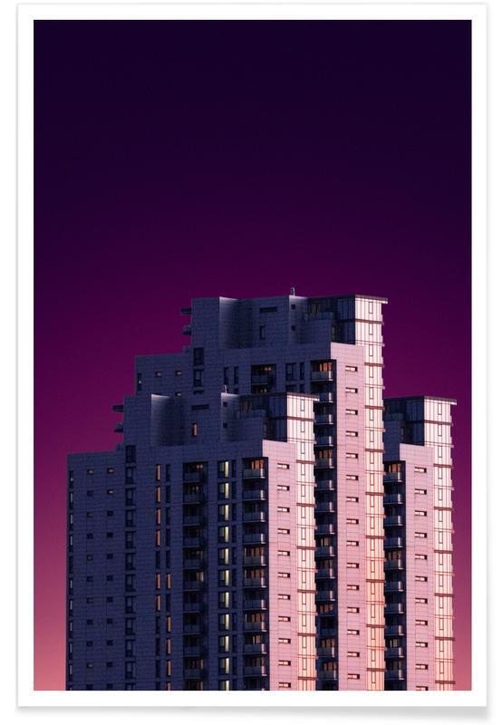 Architectural Details, Violet Skies @heysupersimi Poster