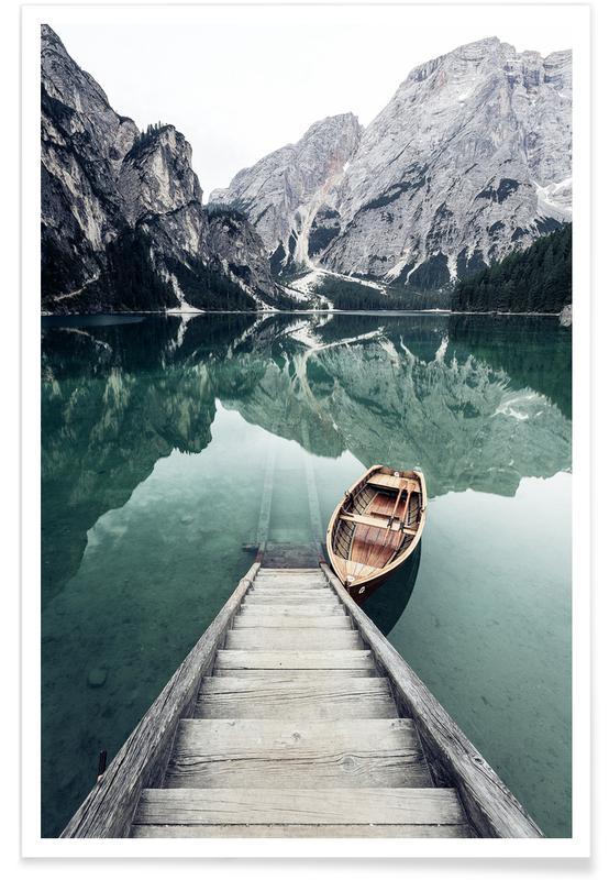 Photographie de lac affiche