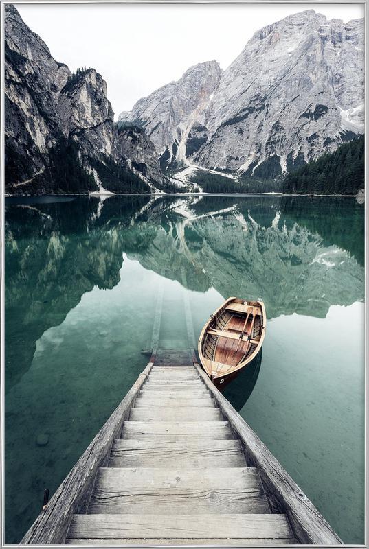 Calm Waters by @rwam poster in aluminium lijst