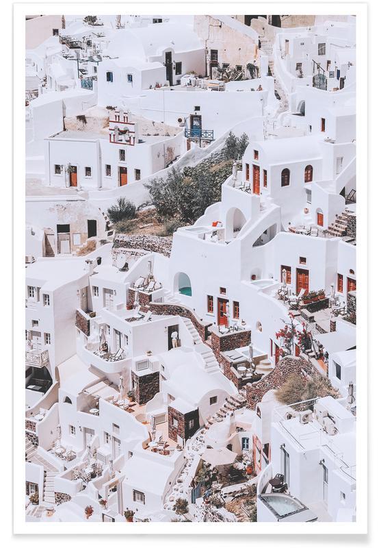 Détails architecturaux, Monuments et vues, Santorini @sotirisbougas affiche