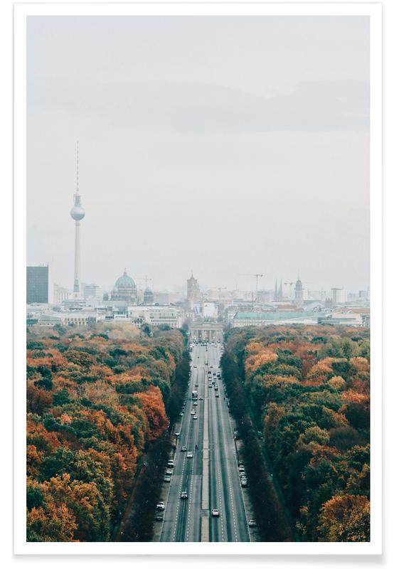 Bezienswaardigheden en monumenten, Berlijn, Bossen, Bomen, Berlin in Autumn @steffimarla poster