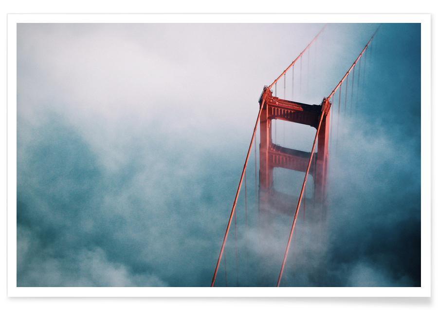 San Francisco, Architectonische details, Lucht en wolken, Golden Gate poster