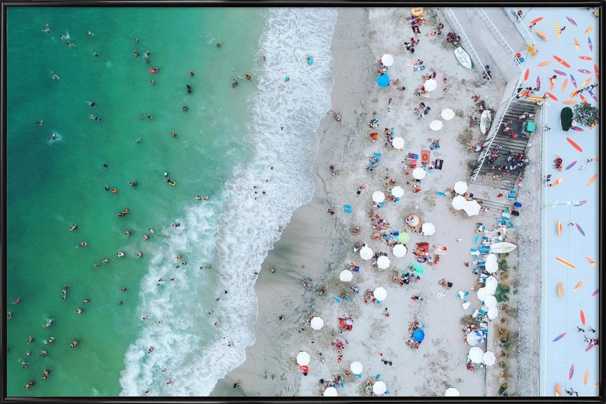 Punta Hermosa by @Kateclarkeph Framed Poster