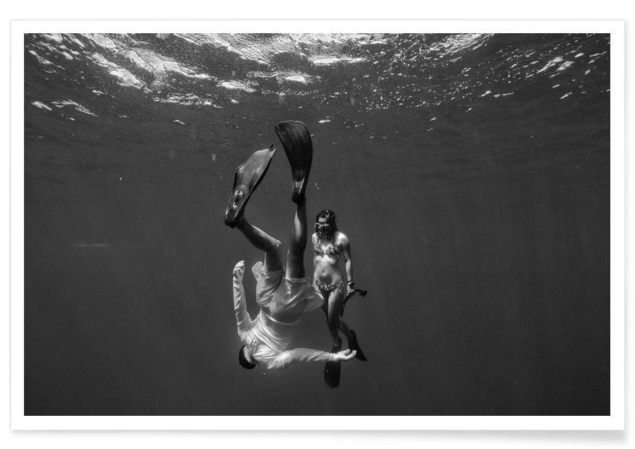 Schwarz & Weiß, Schwimmen, Take The Plunge -Poster