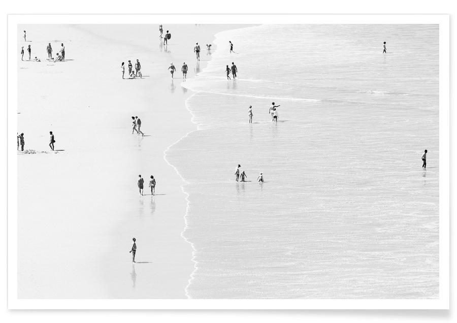Plages, Océans, mers & lacs, Noir & blanc, Groupes, Hazy Days affiche