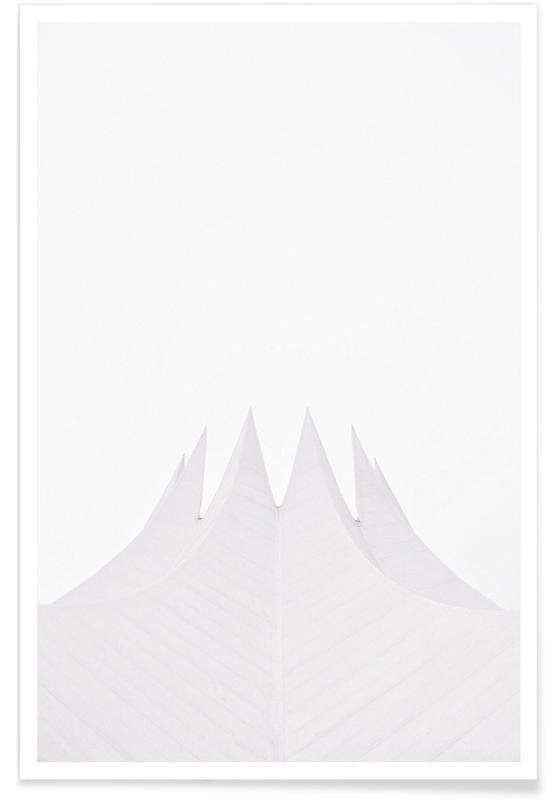 Zwart en wit, Berlijn, Architectonische details, Tempodrom poster