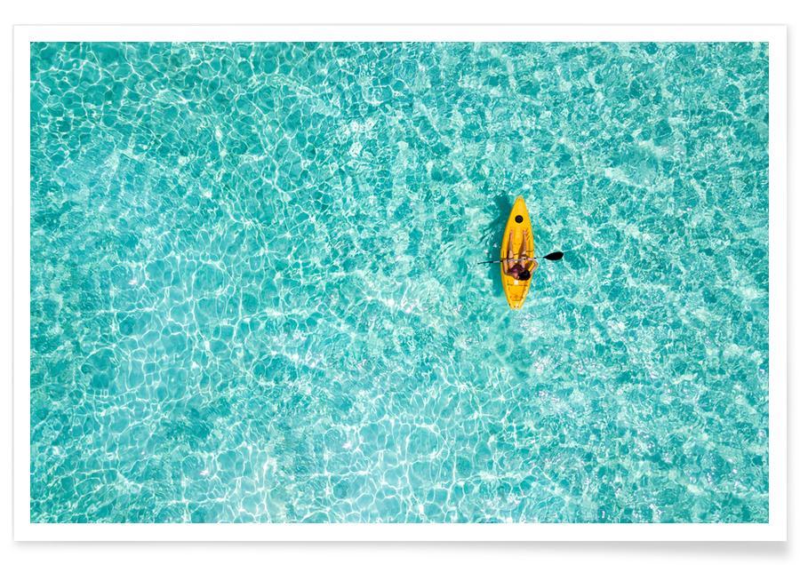 Arkitektoniske detaljer, Hav, sø & havlandskab, Rejser, Paddle by @moofushi Plakat