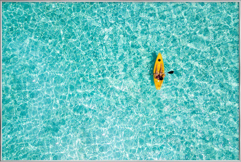 Paddle by @moofushi -Poster im Alurahmen