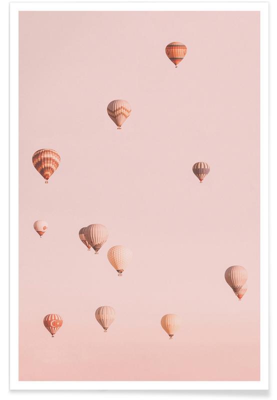 Skyarna & moln, Resor, Balloons Drifting Poster