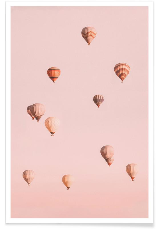 Ciels & nuages, Voyages, Balloons Drifting II affiche