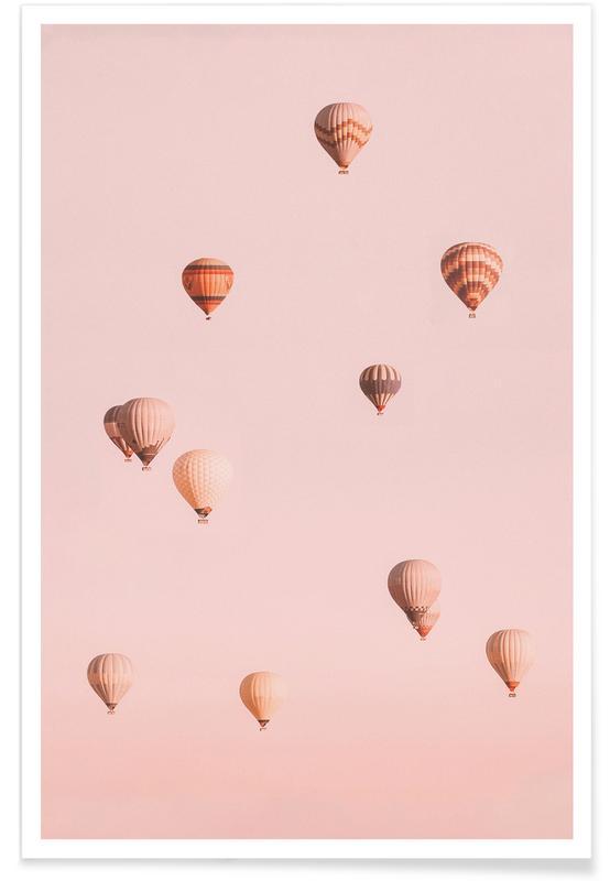 Skyarna & moln, Resor, Balloons Drifting II Poster